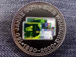 150 éves a svájci valuta emlékérem 50 Frank / id 10679/