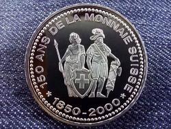 150 éves a svájci valuta emlékérem 1000 Frank / id 10681/