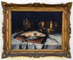 "Murin Vilmos (1891-1952 ) "" Halas csendélet.. """