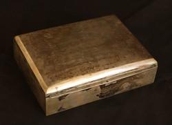 Ezüst asztali cigaretta tartó doboz