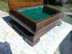 Antik fa láda / ékszertartó doboz