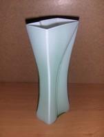 Ritka art deco üveg váza 24,5 cm (3/d)