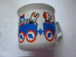 Zsolnay nagyon ritka kisvonatos gyermek csésze 2.