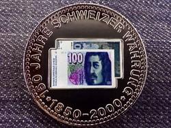 150 éves a svájci valuta emlékérem 100 Frank / id 10682/