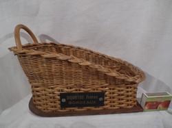 Francia - bortartó - vessző - fém felirattal - nem repedt - hibátlan 26 x 16 x 13 cm