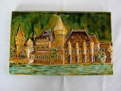 Jelzett kerámia fali dísz - Budapest