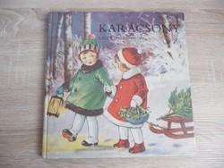 Régi karácsonyi képeslapok könyvben