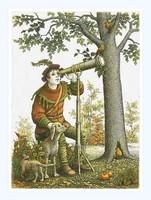 Artner Margit - A csillagász 18 x 13.5 cm rézkarc