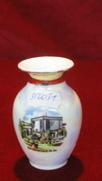 ROYAL porcelán Bavaria KPM kézzel festett váza, lüszter mázas.