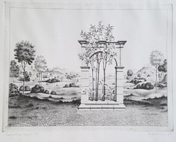 Artner Margit - A paradicsom kapuja 30 x 40 cm rézkarc