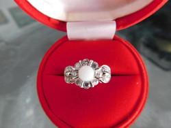 Fehér   Arany 14 k Női gyűrű   4.9 gr