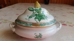 Herendi zöld Aponyi mintás bonbonier citromfogóval eladó!
