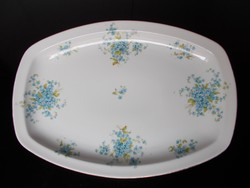 Gyönyörű antik nefelejcses MZ Austria porcelán tál, pecsenyéstál