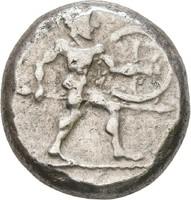 Görög PAMPHYLIA  Aspendos   465-430 BC.  20mm /10,92g.
