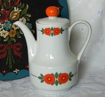 Bavaria porcelán kiöntő, kancsó, virág