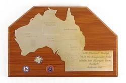 0X365 Ausztrália fali plakett 1981