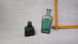 2 db régi kis tintás üveg