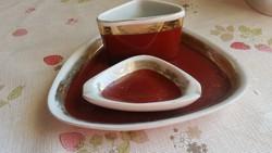 Hollóházi porcelán , hamutartó, hamutál  készlet eladó!