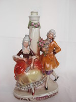 Német porcelán barokk pár lámpatest
