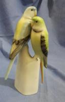 Hollóházi kézzel festett nagy papagáj pár