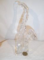 Francia - kristály szakszofon - 42 dkg -  tömör - nehéz - nagy - 20 x 8 x 6 cm - hibátlan