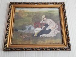 Szinyei Merse Pál szerelmespár reprodukció nyomat hibátlan blondel keretben