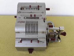 Régi retró antik német Brunsviga 13RK mechanikus számológép