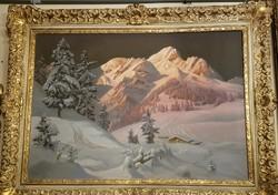 Gyönyörű A.Arnegger festmény / Beautiful A.Arnegger painting