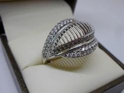 Szép kézműves nagy ezüst gyűrű