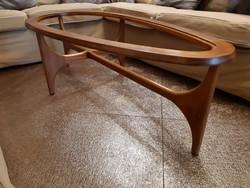 Skandináv retro design csepp asztal