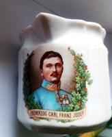 Ritka antik Ferencz József főherceg képével díszített tejkiöntő