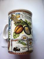 Angol,  méhecskés porceln teás csésze