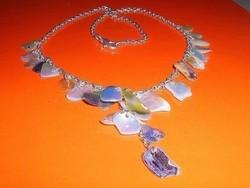 Kagyló etnikai Tibeti ezüst nyaklánc