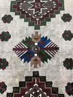 Kézicsomózású Kars Kazak Szőnyeg Naturális Színekkel - Hippiknek :) 230x156