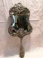 Antik ezüst kézi tükör csiszolt tükörrel