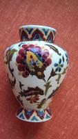 Antik,arany kontúros dekoratív porcelán DÍSZVÁZA./Jelölése,Zsolnayra utaló jegyekkel formaszámmal/