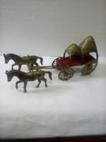Török Szultán lovas fogat, réz szobor