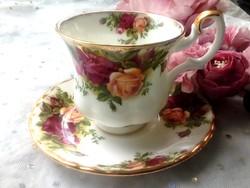 Royal Albert rózsás kávés csésze Old Country Roses 6db/ db