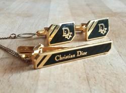 Christian Dior mandzsetta és nyakkendő csipesz szett