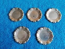 5 db antik ezüst kis tálca egyben!
