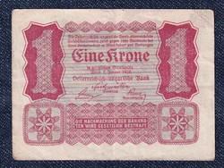 Ausztria 1 Korona 1922 Helmut Freulich felülbélyegzéssel / id 10727/