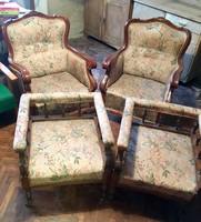 4 részes ónémet ülőgarnitúra 2db fotel+2 db szalonszék