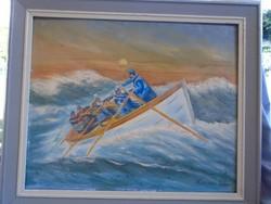 Kondor Béla viharban című festménye