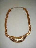MERÉSZ  divat ékszer szett aranyozott nyaklánc, karkötő, gyűrű , ha szereted a feltűnő ékszert