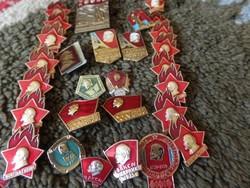 29 db Lenin kitűző-jelvény Oroszországból