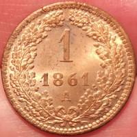 ★1861 Ferenc József 1 Krajcár A★