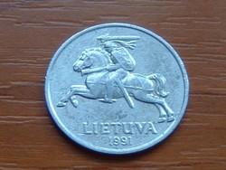 LITVÁNIA 5 CENTAI 1991 ALU. #