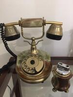 Tárcsás Nosztalgia telefon és öngyújtó