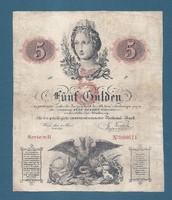 5 Gulden 1859  Ingyen postázás