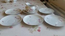 Hollóházi porcelán csésze alátét kistányér,  kiöntő  eladó!